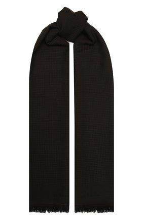 Мужской шарф из шерсти и шелка KITON темно-коричневого цвета, арт. USCIACX0291A | Фото 1
