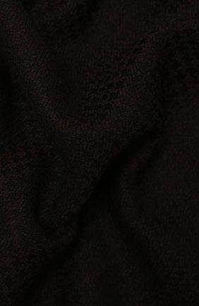 Мужской шарф из шерсти и шелка KITON темно-коричневого цвета, арт. USCIACX0291A | Фото 2