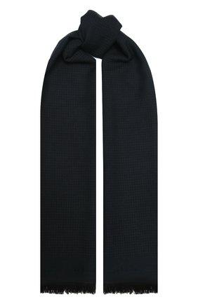 Мужской шарф из шерсти и шелка KITON темно-синего цвета, арт. USCIACX0291A | Фото 1