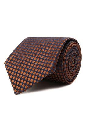 Мужской шелковый галстук KITON коричневого цвета, арт. UCRVKLC08G72   Фото 1