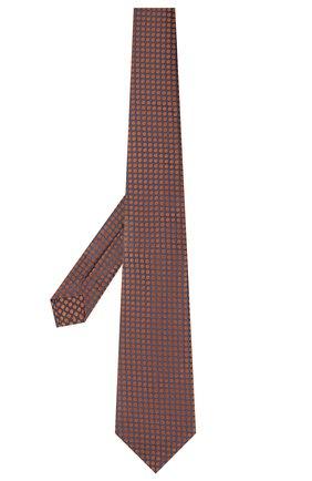Мужской шелковый галстук KITON коричневого цвета, арт. UCRVKLC08G72   Фото 2