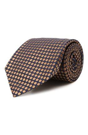 Мужской шелковый галстук KITON темно-бежевого цвета, арт. UCRVKLC08G72 | Фото 1