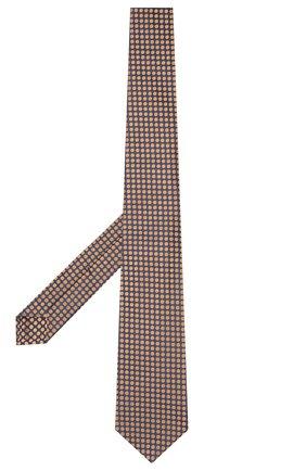 Мужской шелковый галстук KITON темно-бежевого цвета, арт. UCRVKLC08G72 | Фото 2