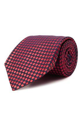 Мужской шелковый галстук KITON красного цвета, арт. UCRVKLC08G72 | Фото 1