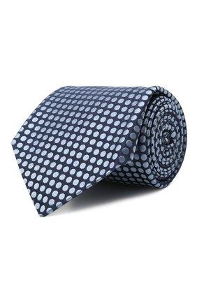 Мужской шелковый галстук KITON голубого цвета, арт. UCRVKLC08G72   Фото 1