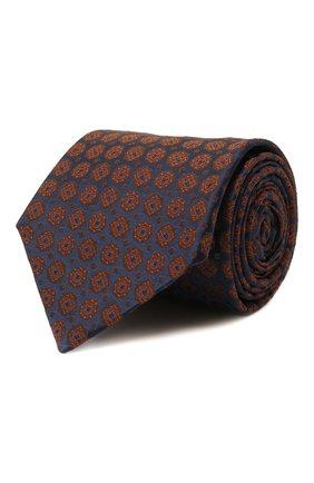 Мужской шелковый галстук KITON коричневого цвета, арт. UCRVKLC08G58   Фото 1