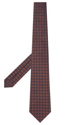 Мужской шелковый галстук KITON коричневого цвета, арт. UCRVKLC08G58   Фото 2