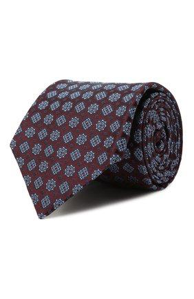 Мужской шелковый галстук KITON бордового цвета, арт. UCRVKLC08G58   Фото 1