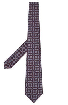 Мужской шелковый галстук KITON бордового цвета, арт. UCRVKLC08G58   Фото 2
