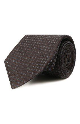 Мужской галстук из шелка и шерсти KITON коричневого цвета, арт. UCRVKLC08G26   Фото 1