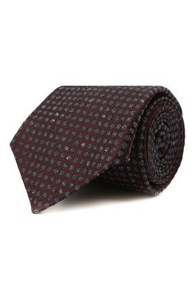 Мужской галстук из шелка и шерсти KITON бордового цвета, арт. UCRVKLC08G26   Фото 1