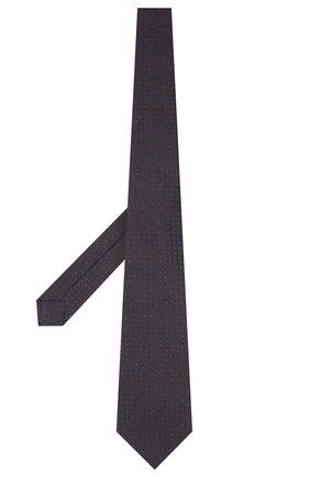 Мужской галстук из шелка и шерсти KITON темно-синего цвета, арт. UCRVKLC08G26 | Фото 2 (Материал: Шерсть, Текстиль; Принт: С принтом)