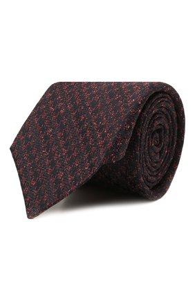 Мужской галстук из шелка и шерсти KITON бордового цвета, арт. UCRVKLC08G19   Фото 1