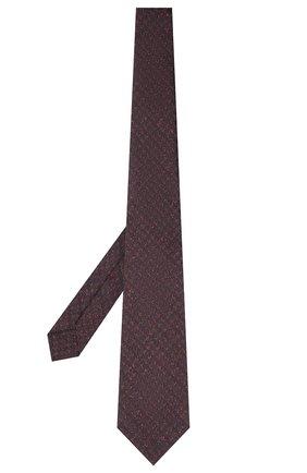 Мужской галстук из шелка и шерсти KITON бордового цвета, арт. UCRVKLC08G19   Фото 2