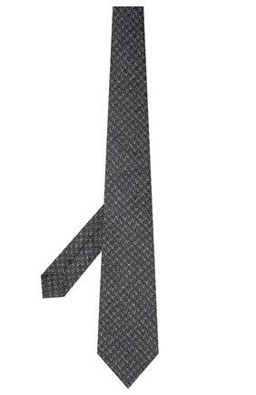 Мужской галстук из шелка и шерсти KITON темно-синего цвета, арт. UCRVKLC08G19 | Фото 2 (Материал: Текстиль, Шелк; Принт: С принтом)