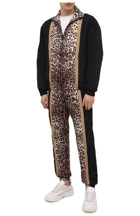 Мужской бомбер DOLCE & GABBANA леопардового цвета, арт. G9UY9Z/G7YRU | Фото 2