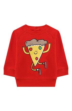Детский хлопковый свитшот STELLA MCCARTNEY красного цвета, арт. 602268/SQJG5 | Фото 1