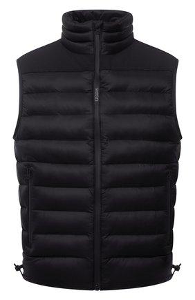 Мужской утепленный жилет HUGO черного цвета, арт. 50452854 | Фото 1 (Материал внешний: Синтетический материал; Кросс-КТ: Куртка, Пуховик; Длина (верхняя одежда): Короткие; Стили: Кэжуэл)