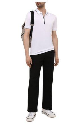 Мужское хлопковое поло BOSS белого цвета, арт. 50452390 | Фото 2