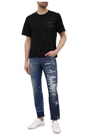 Мужские джинсы DOLCE & GABBANA синего цвета, арт. GYJCCD/G8EM2   Фото 2