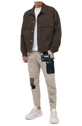 Мужские хлопковые брюки DSQUARED2 бежевого цвета, арт. S74KB0577/S41794 | Фото 2