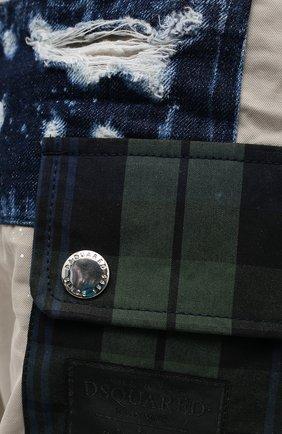 Мужские хлопковые брюки DSQUARED2 бежевого цвета, арт. S74KB0577/S41794 | Фото 5 (Длина (брюки, джинсы): Стандартные; Случай: Повседневный; Стили: Гранж; Материал внешний: Хлопок)