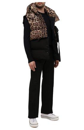 Мужской пуховый жилет DOLCE & GABBANA леопардового цвета, арт. G9VL8Z/G7YU0 | Фото 2