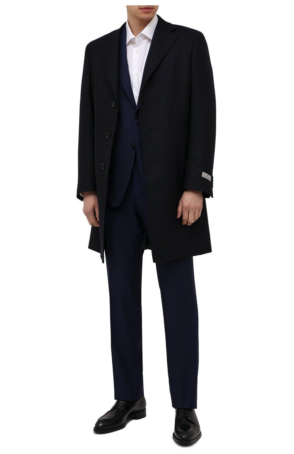 Мужской шерстяное пальто CANALI темно-синего цвета, арт. 55918/FF00193   Фото 2