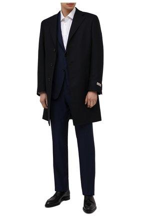 Мужской шерстяное пальто CANALI темно-синего цвета, арт. 55918/FF00193 | Фото 2