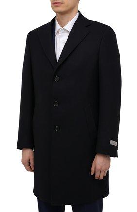 Мужской шерстяное пальто CANALI темно-синего цвета, арт. 55918/FF00193   Фото 3