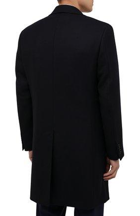 Мужской шерстяное пальто CANALI темно-синего цвета, арт. 55918/FF00193   Фото 4