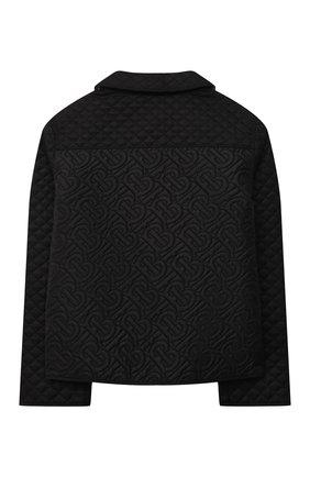 Детского утепленная куртка BURBERRY черного цвета, арт. 8036682 | Фото 2