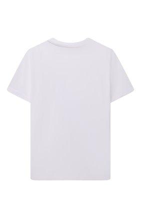 Детская хлопковая футболка BURBERRY белого цвета, арт. 8041229 | Фото 2