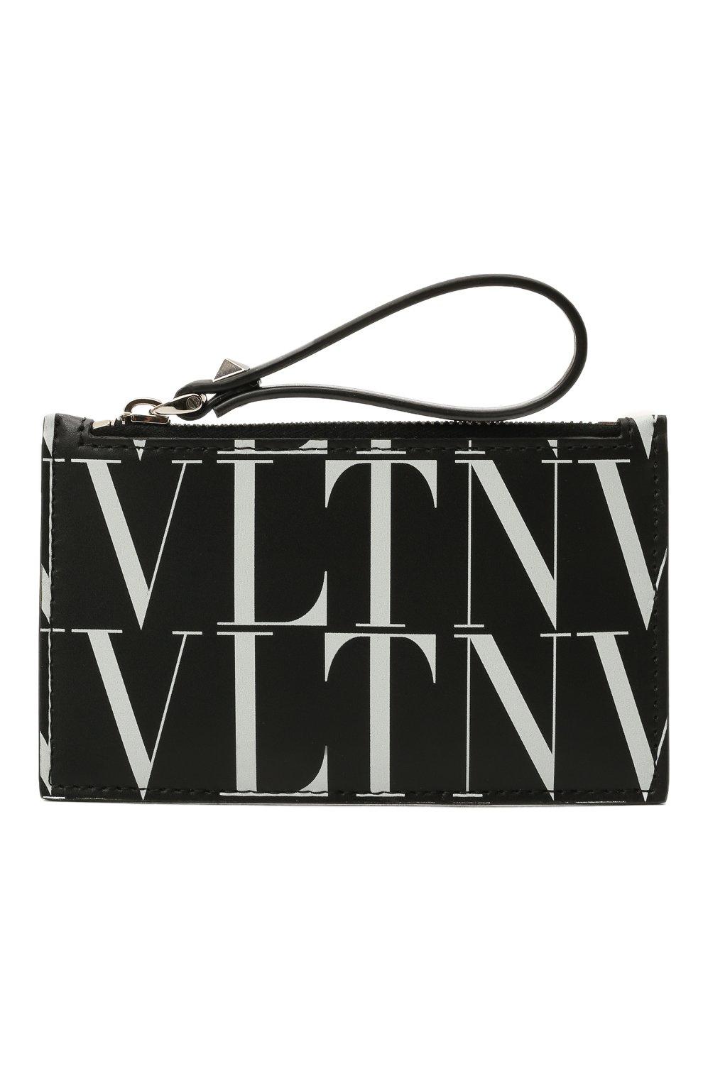 Мужской кожаный футляр для кредитных карт VALENTINO черного цвета, арт. WY2P0540/GTC | Фото 1