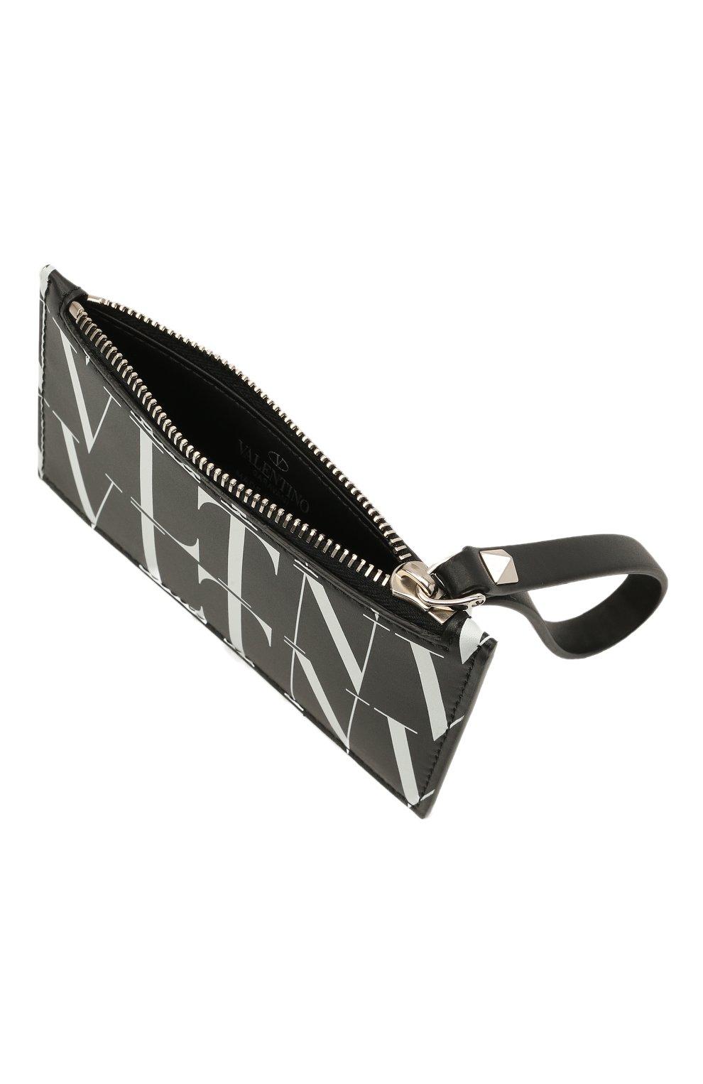 Мужской кожаный футляр для кредитных карт VALENTINO черного цвета, арт. WY2P0540/GTC | Фото 3