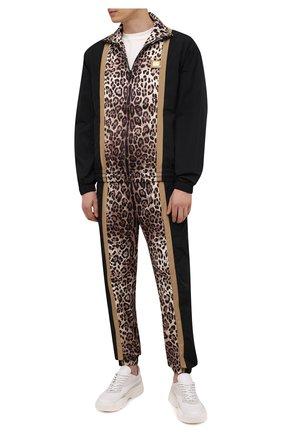 Мужские джоггеры DOLCE & GABBANA леопардового цвета, арт. GWJPAZ/G7YRU | Фото 2