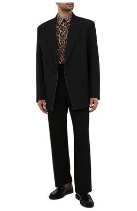 Мужская хлопковая рубашка DOLCE & GABBANA леопардового цвета, арт. G5IY0T/HS5E3 | Фото 2 (Длина (для топов): Стандартные; Рукава: Длинные; Материал внешний: Хлопок; Стили: Гламурный; Случай: Повседневный; Рубашки М: Regular Fit; Манжеты: На пуговицах; Принт: С принтом; Воротник: Кент)