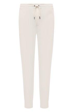 Мужские джоггеры из хлопка и вискозы RALPH LAUREN белого цвета, арт. 790845707 | Фото 1