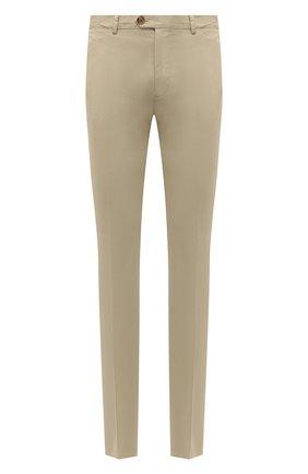 Мужские хлопковые брюки RALPH LAUREN светло-бежевого цвета, арт. 790802188   Фото 1
