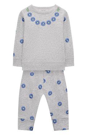 Детский комплект из свитшота и брюк STELLA MCCARTNEY серого цвета, арт. 603374/SQJE8 | Фото 1