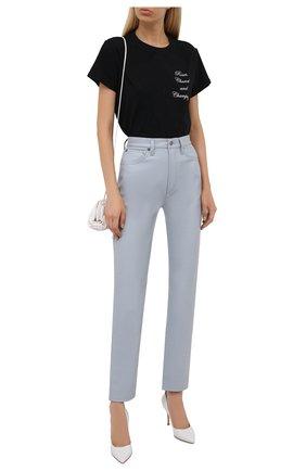 Женская хлопковая футболка SEVEN LAB черного цвета, арт. T21-RCC black   Фото 2