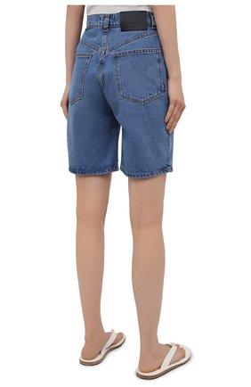Женские джинсовые шорты BLCV голубого цвета, арт. 1243VH | Фото 4 (Женское Кросс-КТ: Шорты-одежда; Кросс-КТ: Деним; Длина Ж (юбки, платья, шорты): Мини; Материал внешний: Хлопок; Стили: Спорт-шик)