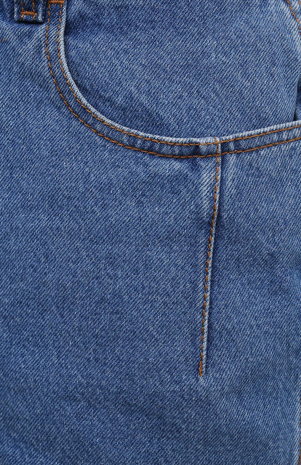 Женские джинсовые шорты BLCV голубого цвета, арт. 1243VH | Фото 5 (Женское Кросс-КТ: Шорты-одежда; Кросс-КТ: Деним; Длина Ж (юбки, платья, шорты): Мини; Материал внешний: Хлопок; Стили: Спорт-шик)