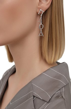 Женские серьги DZHANELLI серебряного цвета, арт. 0197 | Фото 2
