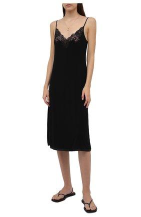 Женская сорочка I.D. SARRIERI черного цвета, арт. L9560   Фото 2