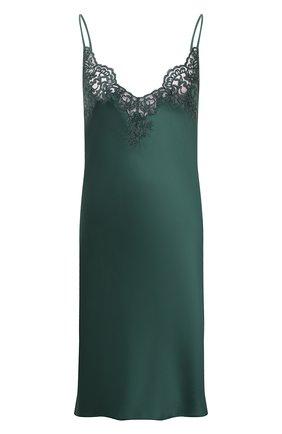 Женская шелковая сорочка I.D. SARRIERI зеленого цвета, арт. J5340   Фото 1