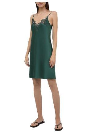 Женская шелковая сорочка I.D. SARRIERI зеленого цвета, арт. J5340   Фото 2