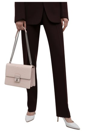 Женская сумка rosalia из кожи аллигатора DOLCE & GABBANA кремвого цвета, арт. BB6064/B2EC8/AMIS   Фото 2 (Размер: small; Ремень/цепочка: На ремешке; Сумки-технические: Сумки через плечо)