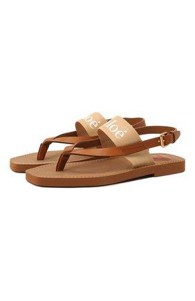 Комбинированные сандалии Woody | Фото №1