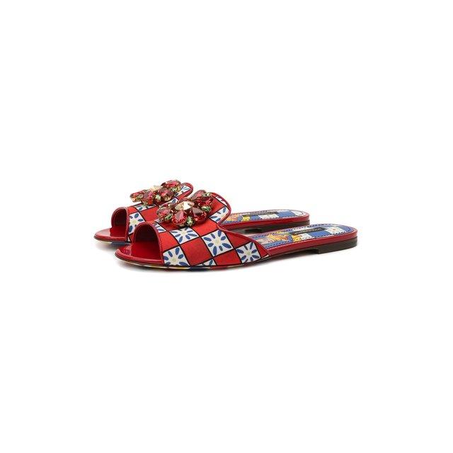 Комбинированные шлепанцы Bianca Dolce & Gabbana